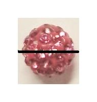 perla pavè di strass 8 mm peridot
