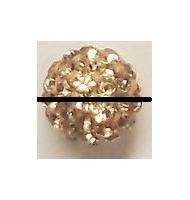 perla pavè di strass 10 mm fuchsia