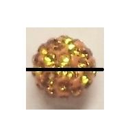 perla pavè di strass 10 mm light rose