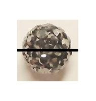perla pavè di strass 14 mm crystal ab