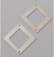 coppia di cerchi 25 mm con anellino argento 925