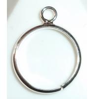 base anello argento 925 castone swarovski 4565 da 18 x 13 mm