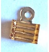Terminale chiudi cordoncino piatto color argento 4 mm