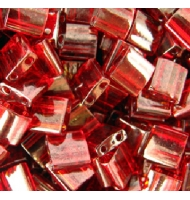 Miyuki tila beads TL0301 dark topaz rainbow gold luster
