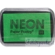 tampone di inchiostro neon paper poetry verde fluo