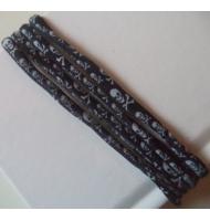 Cordoncino elastico con teschi largo 5mm