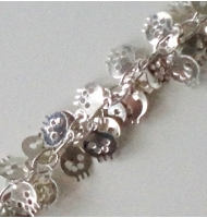 Catena con teschi 7 mm color argento