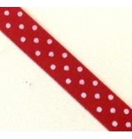 nastro rosso fiocchi di neve 10 mm x 1 metro