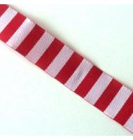 nastro rosso pois bianchi 10 mm x 1 metro