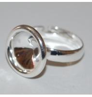 base anello argento 925 castone swarovski 4470 da 12 mm