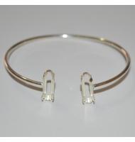 Braccile rigido argento 925 per perle semi forate