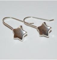 coppia di ganci per orecchini con fiocco argento 925