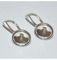 coppia di ganci per orecchini chiusi cabochon 6 mm argento 925