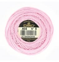 mouliné perlé dmc misura 5 colore numero 602 rosa fuchsia