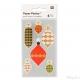 24 stickers decorazioni natalizie da 30 a 60 mm