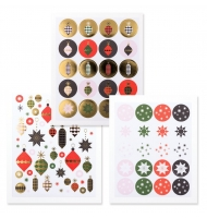 24 stickers decorazioni natalizie da 30 a 60 mm
