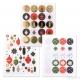 194 stickers decorazioni natalizie 30 mm