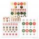 182 stickers decorazioni natalizie 30 mm