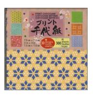 100 fogli carta origami 7,5 x 7,5 cm bianca e nera