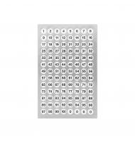 100 stickers stella da 10 a 25 mm oro e argento