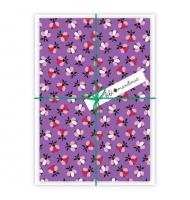 5 biglietti d'auguri verdi farfalle con buste da decorare