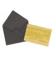 5 biglietti d'auguri bianchi triangoli con buste da decorare