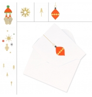 10 mini biglietti d'auguri con busta beige da decorare