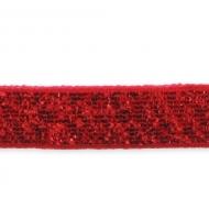 nastro in paillettes 5 mm x 1 metro rosso