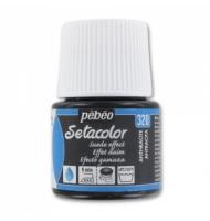 Colore per tessuto Pebeo Setacolor Pailletté numero 205 (onice)