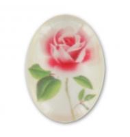 Cabochon acrilico fiore rosa 18 mm