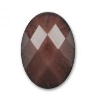 Cabochon acrilico sfaccettato caramello 18 x 13 mm