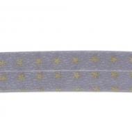 sbieco in cotone 20 mm con nomi francesi grigio e arancio