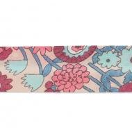 sbieco in cotone 20 mm les oiseaux fiori azzurri