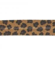 sbieco in poliestere 20 mm leopardato fitto