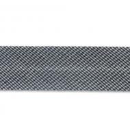 sbieco in poliestere 20 mm vichy bianco e nero