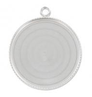 Castone argento 925 per cabochon 30 x 22 cm