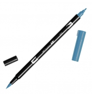 Pennarello tombow dual brush doppia punta 452 process blue
