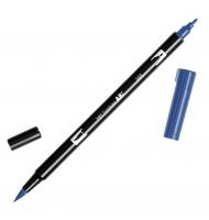 Pennarello tombow dual brush doppia punta 565 deep blue