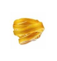 Seta shibori 10 cm ecru gold