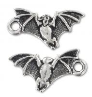 Ciondolo pipistrello argento antico