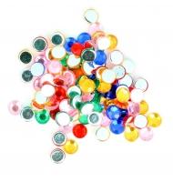 100 strass da incollare 5 mm multicolor