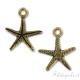 Ciondolo stella marina dorato antico