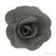 Spilla fiore grigio 65 mm