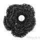 Fiore crochet in filo metallizzato nero 40 mm
