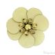 Fiore in simil cuoio oro dorato 30 mm