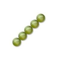15 occhi di gatto tondi 6 mm verde scuro