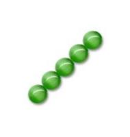 15 occhi di gatto tondi 6 mm verde oliva chiaro