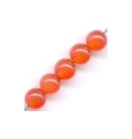 25 occhi di gatto tondi 4 mm arancio