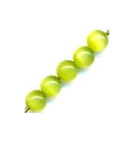 25 occhi di gatto tondi 3 mm verde oliva