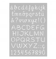 Stencil alfabeto 5 cm